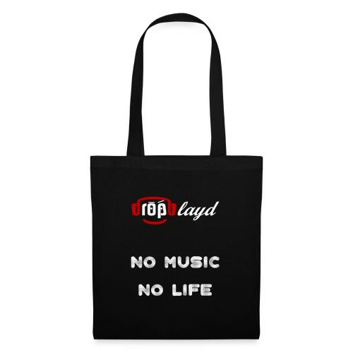 dropblayd Merch - No Music No Life - Stoffbeutel