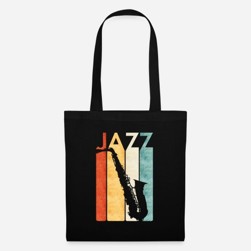 Jazz Saxophon Retro - Stoffbeutel
