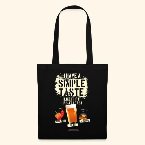 Whiskey Chili Craft Beer SHU IBU PPM - Stoffbeutel
