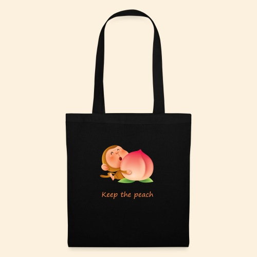 Monkey Keep the peach - Tote Bag