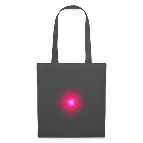 różowe promienie - Torba materiałowa