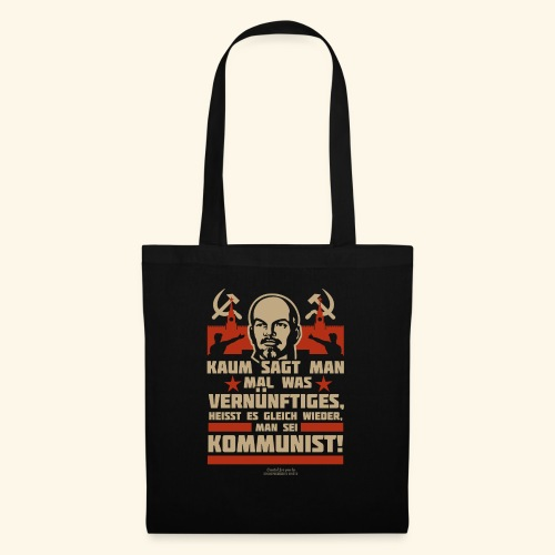 Sprüche T-Shirt Lenin Kommunist - Stoffbeutel