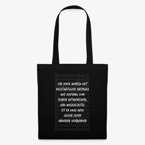 Achtung Immanuel Kant Zitat Spruch Geschenk Idee - Stoffbeutel