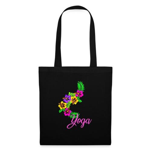 Exotisches Blumen Yoga - Stoffbeutel