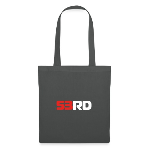 53RD Logo lang (weiss-rot) - Stoffbeutel