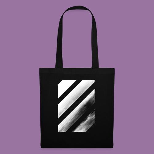Stripes Diagonal White - Borsa di stoffa