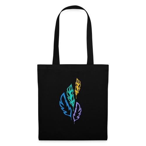 piume astratte multicolore - Borsa di stoffa