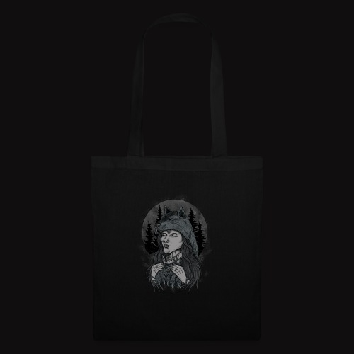 women wolf - Tote Bag
