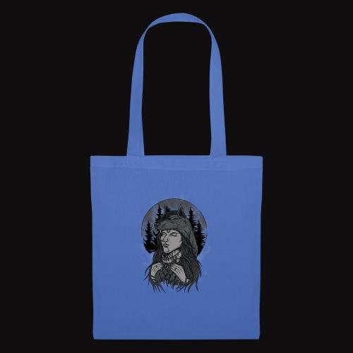 women wolf - Tote Bag