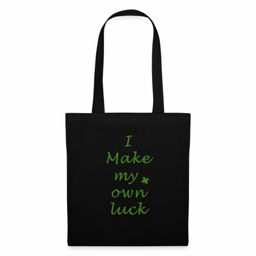 i make my luck swag design green white - Tote Bag