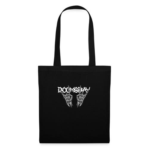 Doomsday logo white - Tygväska