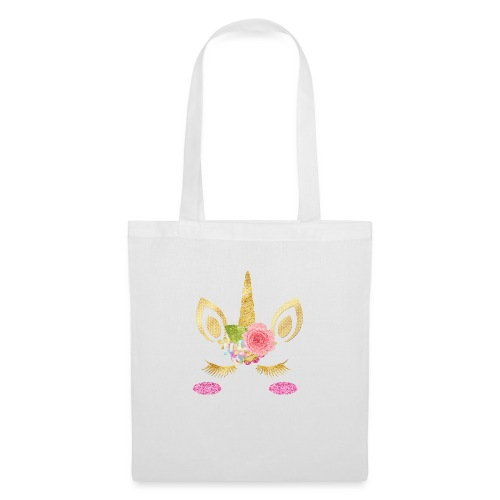 unicorn face - Stoffbeutel