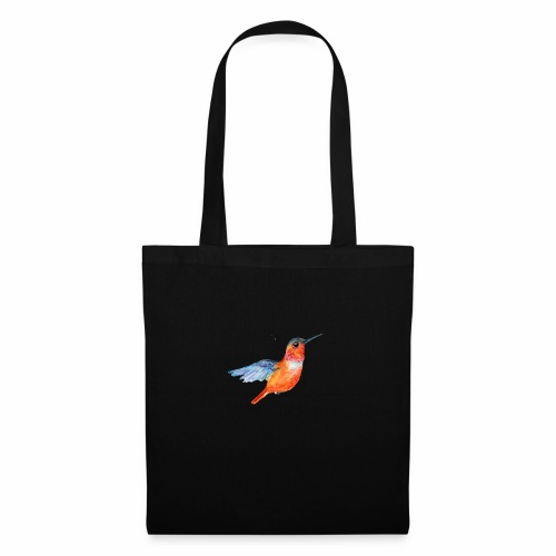ORANGE BLUE HUMMING BIRD HUMMINGBIRD DESIGN - Tote Bag