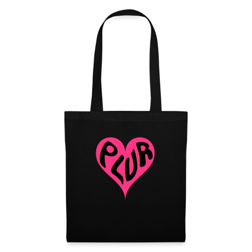 PLUR - Peace Love Unity and Respect love heart - Tote Bag