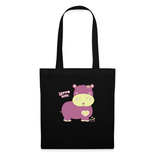 hippo baby girl - Bolsa de tela