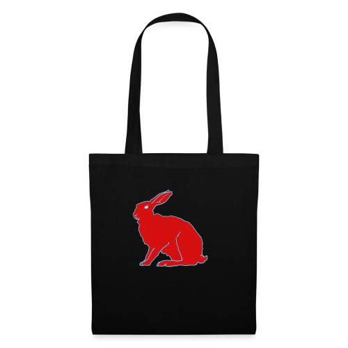 Roter Hase - Stoffbeutel