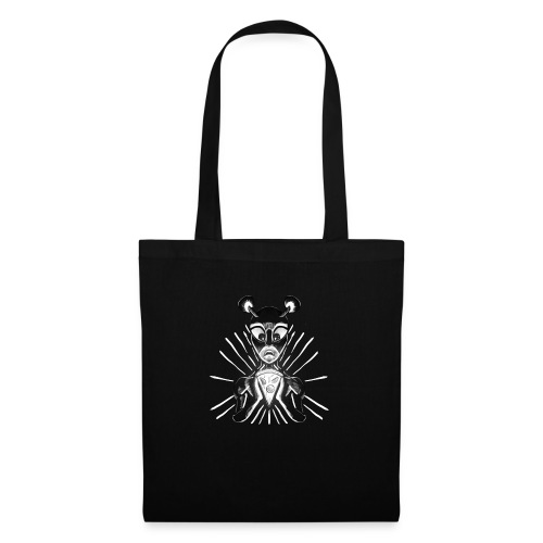 Alien mit Pizza - Stoffbeutel