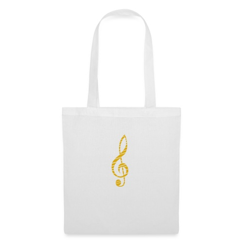 Goldenes Musik Schlüssel Symbol Chopped Up - Tote Bag