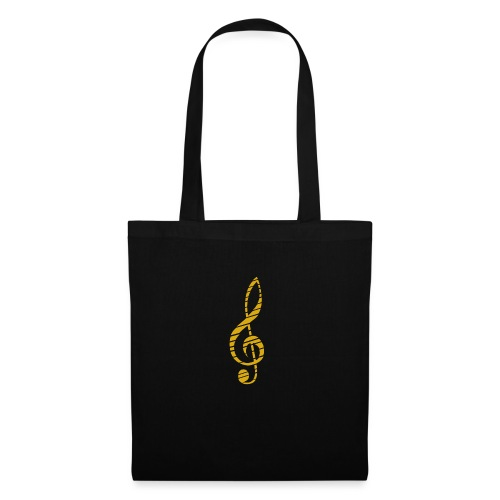 Goldenes Musik Schlüssel Symbol Chopped Up - Tote Bag