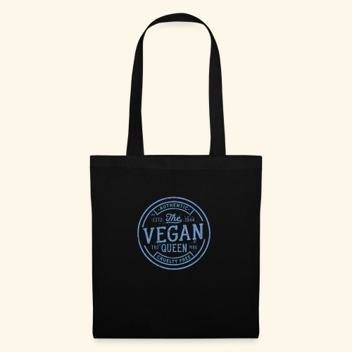 The Vegan Queen - Vintage Stamp Logo - Tote Bag