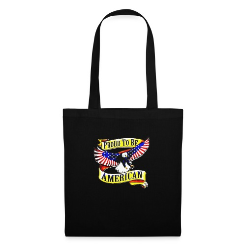 EAGLE PROUD TO BE AMERICAN UNISEX T-SHIRT - Sac en tissu