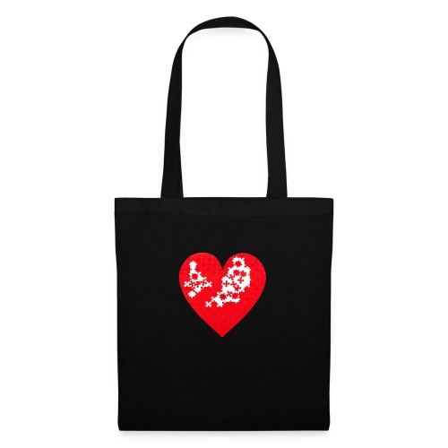 Heart Puzzle - Borsa di stoffa