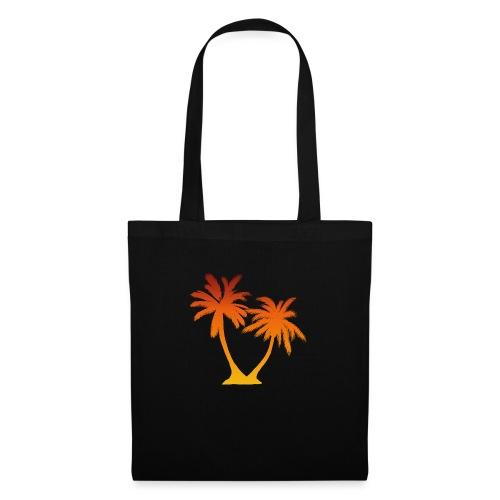 Palm Boom Zonsondergang - Tas van stof