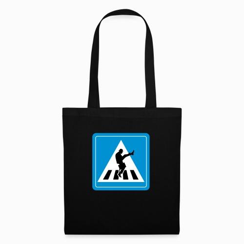 Silly walk zebrapad verkeersbord Zierikzee Zeeland - Tas van stof