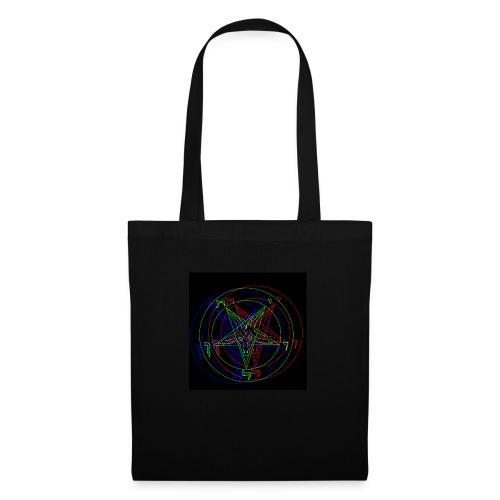 Satan, Pentagram RETRO VHS-Design - Stoffbeutel