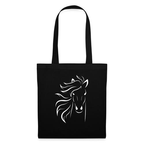 pferd silhouette - Stoffbeutel