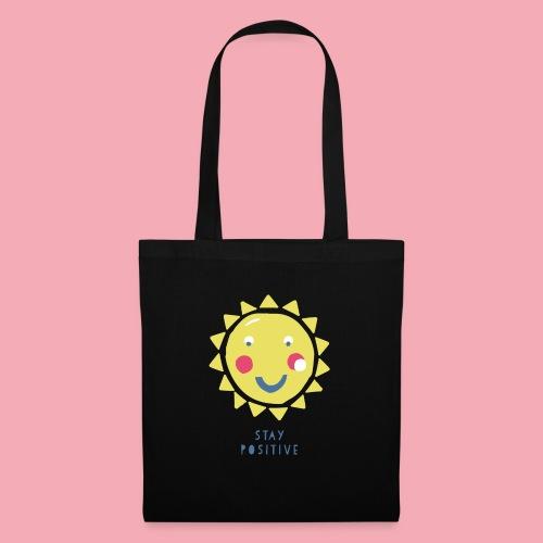 Stay positive // Sonne - Stoffbeutel