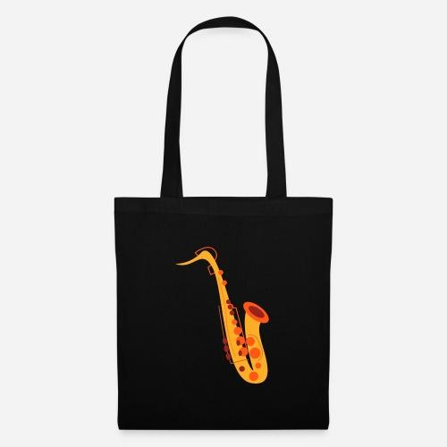 Goldenes Saxophon - Stoffbeutel