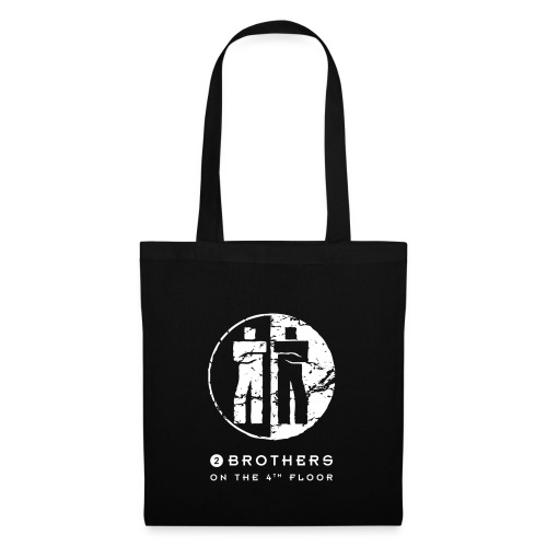 2 Brothers White text - Tote Bag