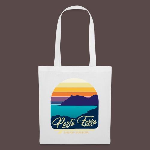 Porto Ferro - Vintage travel sunset - Borsa di stoffa
