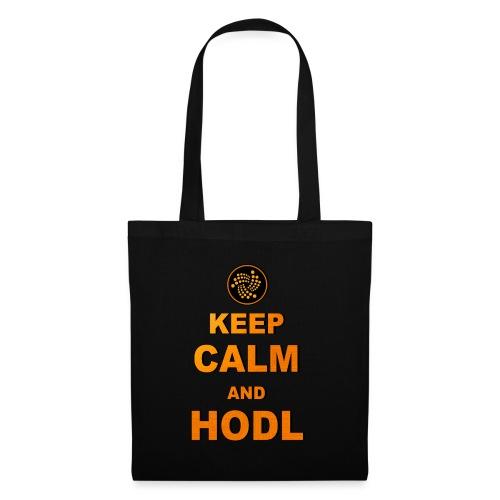 IOTA -keep calm and HODL - Stoffbeutel