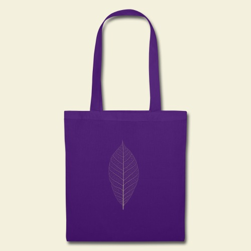 Feuille marron Squelette - Tote Bag