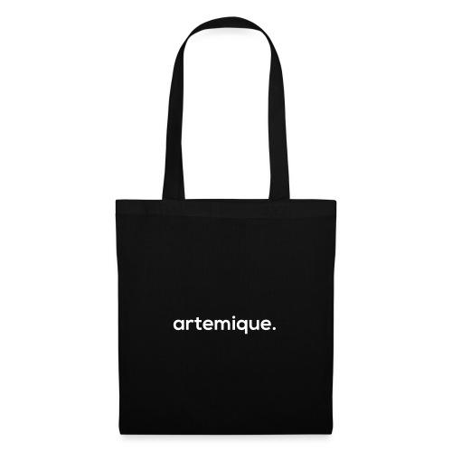 artemique. brand logo white - Tas van stof