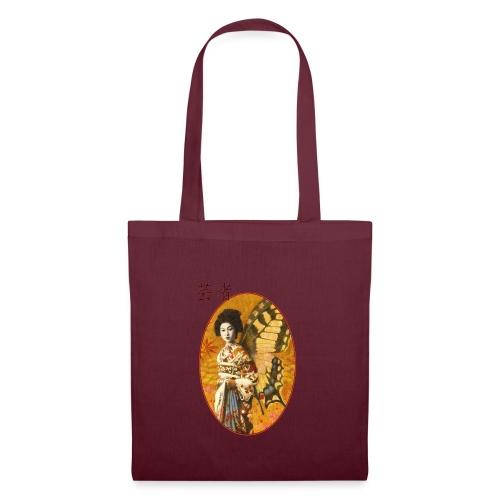 Vintage Japanese Geisha Oriental Design - Tote Bag