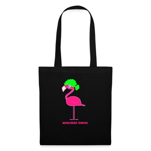 Green Afro Haired Flamingo - Kangaskassi