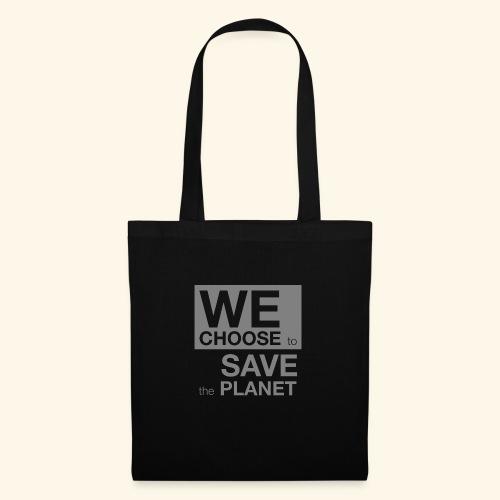 We Choose to Save the Planet grå - Stoffveske
