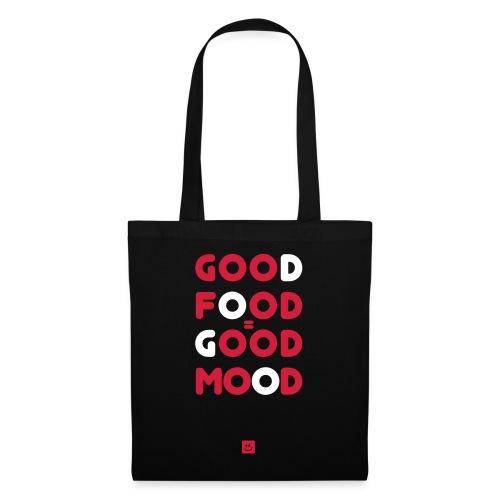 Goed eten is een goed gevoel - Spreuk - Tas van stof