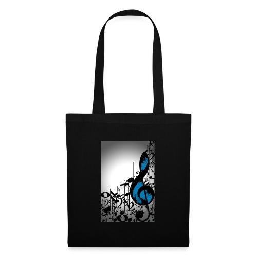 MUSIC BLUE - Borsa di stoffa