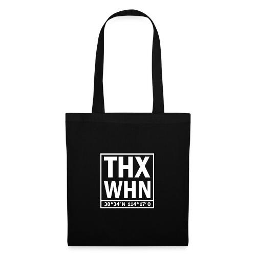 THX WHN Koordinaten - Thanks Wuhan (weiss) - Stoffbeutel