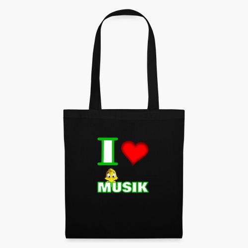 Ich liebe Musik - Stoffbeutel