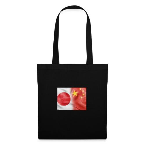 japan china flag - Borsa di stoffa