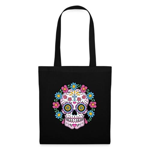 Dia de los Muertos Skull- - Tote Bag