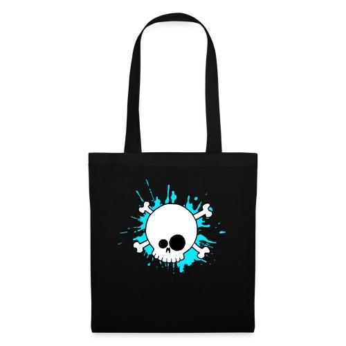 SKULL SPLASH BLEU - Tote Bag