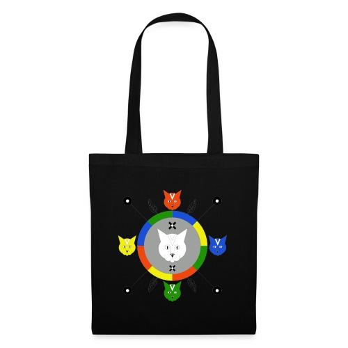 motif géométrique chats - Tote Bag