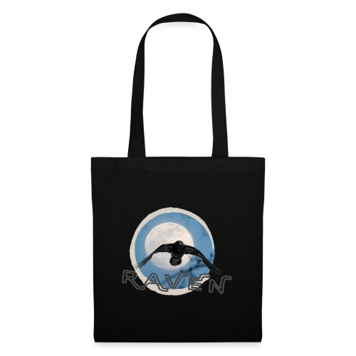 Australian Raven Full Moon - Tote Bag