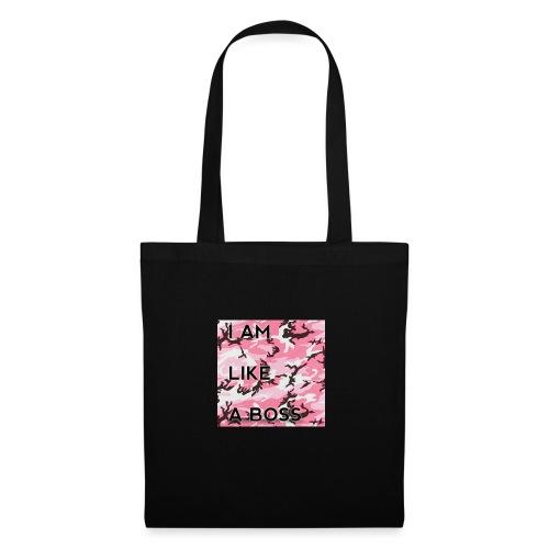 i am loke a boss premium pink camo - Stoffbeutel